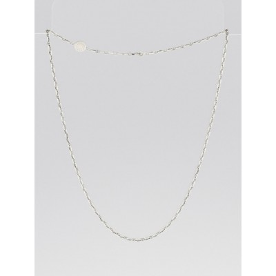 Hermes Sterling Silver Chain Necklace