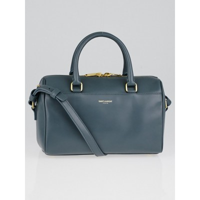 Yves Saint Laurent Grey Calfskin Leather Classic Baby Duffle Bag