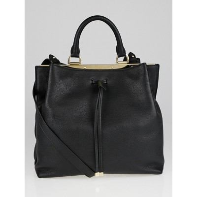 Mulberry Black Grained Leather Kensington Bag