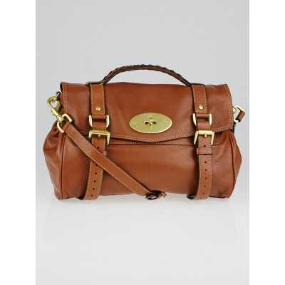Mulberry Oak Soft Buffalo Leather Alexa Bag