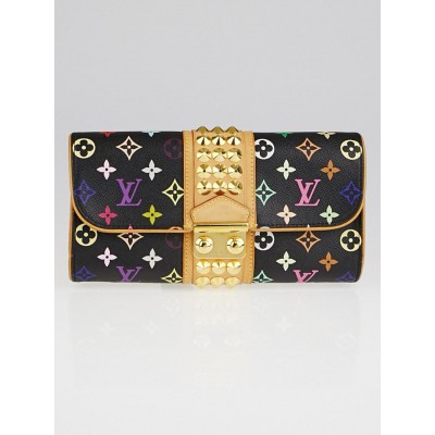 Louis Vuitton Black Monogram Multicolor Courtney Clutch Bag