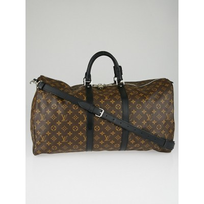 Louis Vuitton Monogram Macassar Keepall Bandouliere 55 Bag