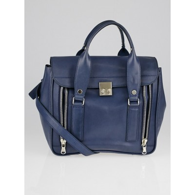 3.1 Phillip Lim Blue Smooth Leather Small Pashli Satchel Bag