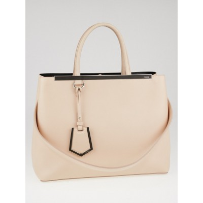 Fendi Light Pink Calf Leather Medium 2Jours Tote Bag 8BH250