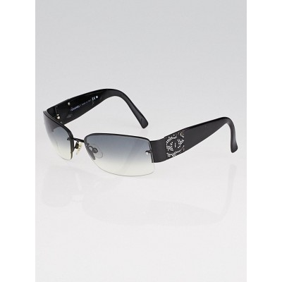 Chanel Black Gradient Tint Frameless Swarovski Crystal Sunglasses- 4117B