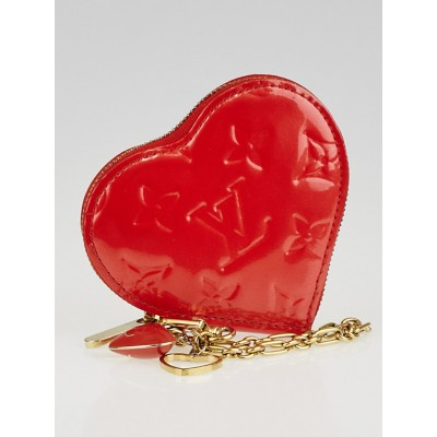 Louis Vuitton Orange Sunset Monogram Vernis Heart Coin-Purse