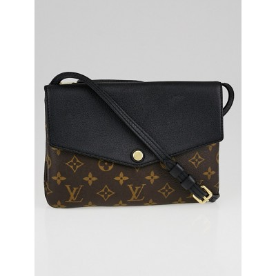 Louis Vuitton Black Monogram Canvas Twinset Bag
