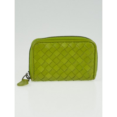 Bottega Veneta Absinthe Intrecciato Woven Nappa Leather Coin Purse