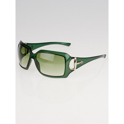 Gucci Green Frame Gradient Tint Horsebit Sunglasses-2562/S
