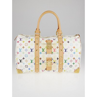 Louis Vuitton White Monogram Multicolore Keepall 45 Bag