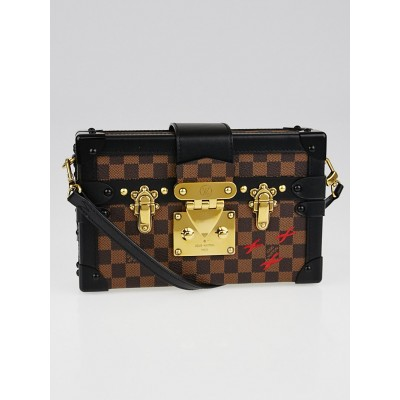 Louis Vuitton Limited Edition Damier Canvas Petite Malle Bag
