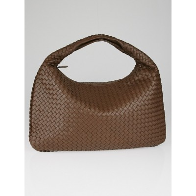 Bottega Veneta Truffle Intrecciato Woven Nappa Leather Large Veneta Hobo Bag