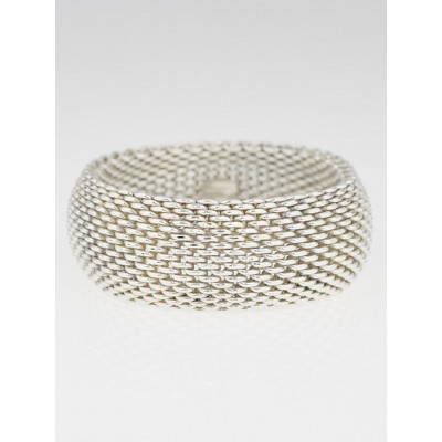 Tiffany & Co. Sterling Silver Mesh Somerset Wide Bracelet