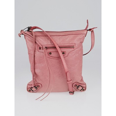 Balenciaga Rose Bonbon Lambskin Leather Small Crossbody Bag