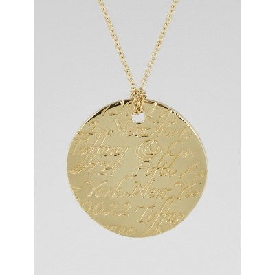 Tiffany & Co. 18k Yellow Gold Tiffany Notes Pendant