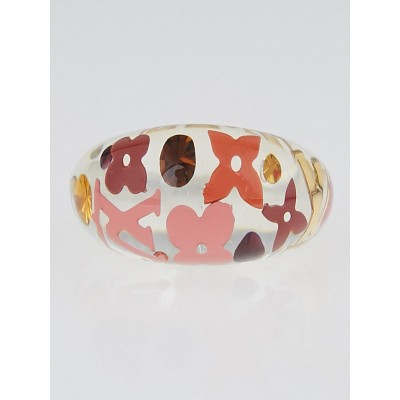 Louis Vuitton Tangerine Resin Inclusion Ring Size 6.5