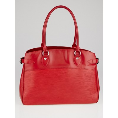 Louis Vuitton Rouge Epi Leather Passy GM Bag