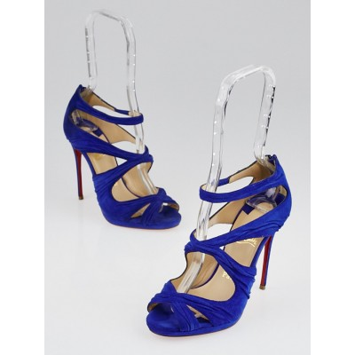 Christian Louboutin Pervenche Suede Kashou 120 Sandals Size 5/35.5