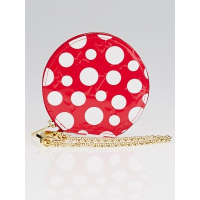 Louis Vuitton Limited Edition Yayoi Kusama Red Monogram Vernis Dots Infinity Chapeau Coin Purse