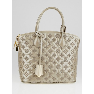 Louis Vuitton Limited Edition Gris Monogram Fascination Lockit Bag