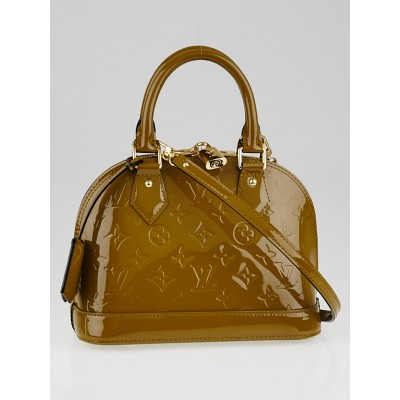 Louis Vuitton Olive Monogram Vernis Alma BB Bag