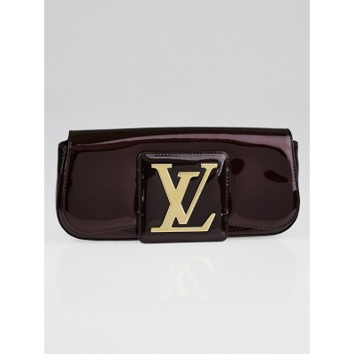 Louis Vuitton Amarante Monogram Vernis Pochette SoBe Clutch Bag