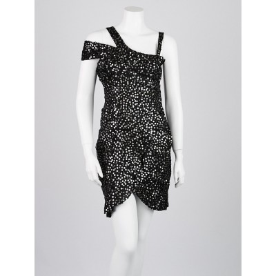 Isabel Marant Black Silk Sequins Becky Dress Size 4/38
