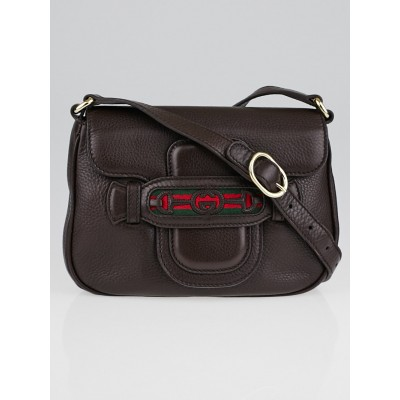 Gucci Brown Leather Dressage Crossbody Bag