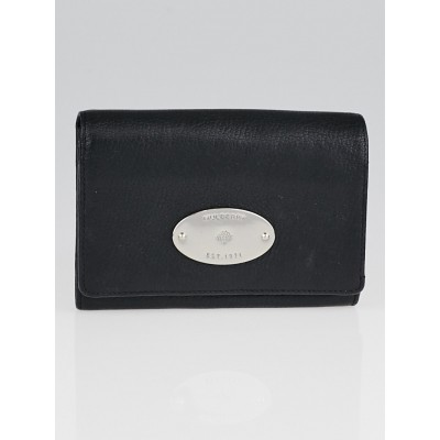 Mulberry Black Natural Leather French Purse Wallet