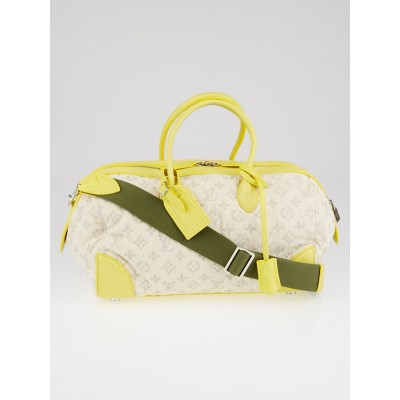 Louis Vuitton Limited Edition Jaune Monogram Denim Speedy Round Bag