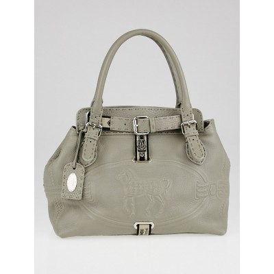 Fendi Grey Selleria Leather Small Villa Borghese Bag