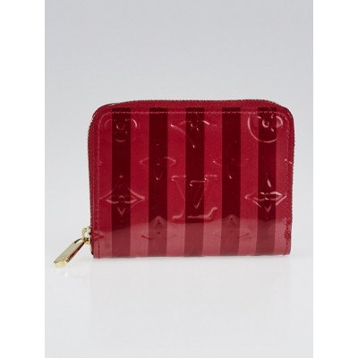 Louis Vuitton Pomme D'Amour Rayures Monogram Vernis Zippy Coin Purse