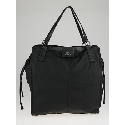 Burberry Black Nylon Tote Bag