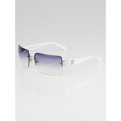 Chanel Cream Frameless CC Logo Sunglasses 4107-B