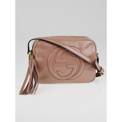 Gucci Beige Patent Leather Soho Disco Small Shoulder Bag