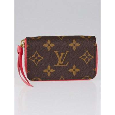 Louis Vuitton Rose Litchi Monogram Canvas Zippy Multicartes Wallets