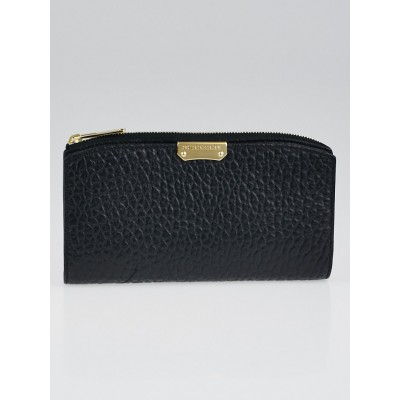 Burberry Black Grain Leather Alvington Continental Wallet