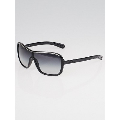 Chanel Black Oversize Frame Gradient Tint Chain Sunglasses-6043