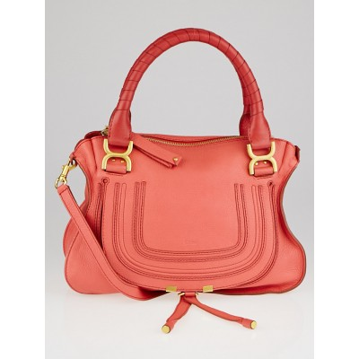 Chloe Paradise Pink Pebbled Leather Medium Marcie Satchel Bag