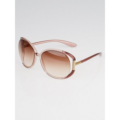 Tom Ford Pink Oversized Frame Tinted Lens Olivia Sunglasses -TF78