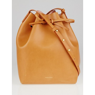 Mansur Gavriel Cammello/Rosa Vegetable Leather Bucket Bag