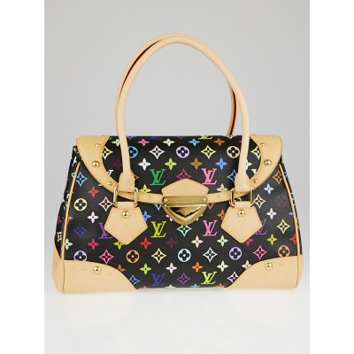 Louis Vuitton Black Monogram Multicolor Beverly GM Bag