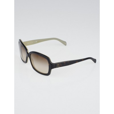 Chanel Tortoise Shell Frame Square Sunglasses 5143