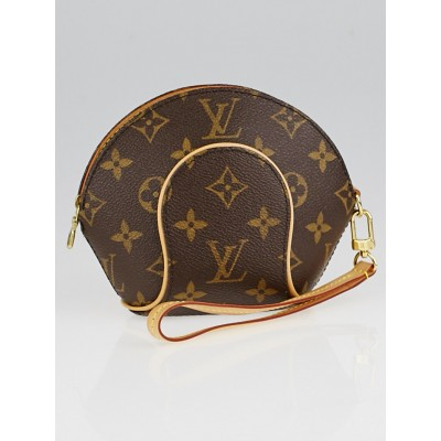 Louis Vuitton Monogram Canvas Mini Ellipse Clutch Bag