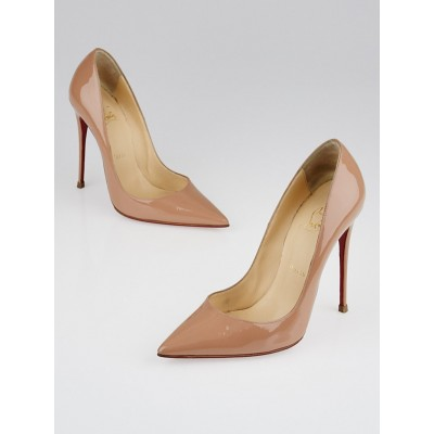 Christian Louboutin Nude Patent Leather So Kate 120 Pumps Size 7/37.5