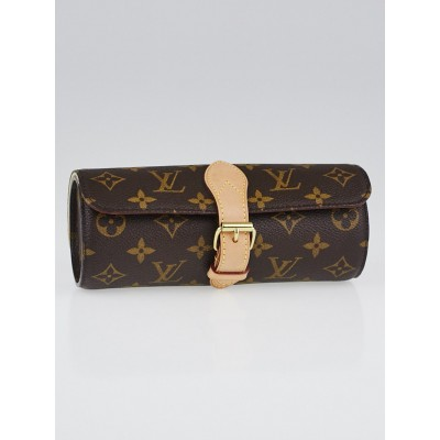Louis Vuitton Monogram Canvas 3 Watch Case