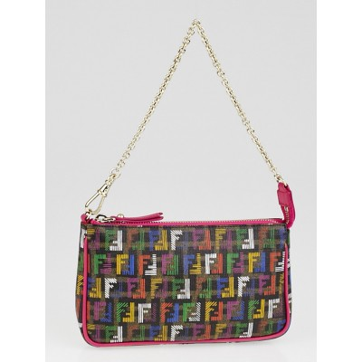 Fendi Multicolor Zucchino Print Coated Canvas Accessories Pochette Bag