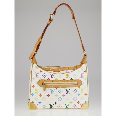 Louis Vuitton White Monogram Multicolore Boulogne Bag