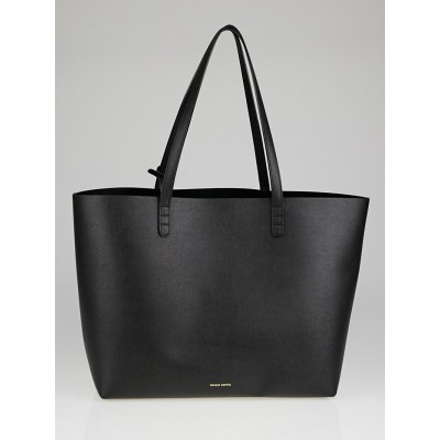 Mansur Gavriel Black Saffiano Leather Large Tote Bag