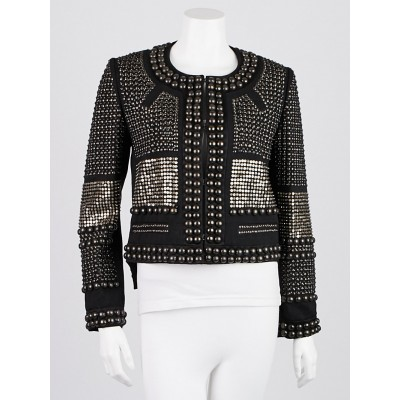 Isabel Marant Black Studded Wool Jayna Jacket Size 6/38